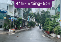 Mặt Tiền đường số Phú Mỹ Q.7.4*18 3 lầu sân thượng, 5pn, 5wc, full nội thất .